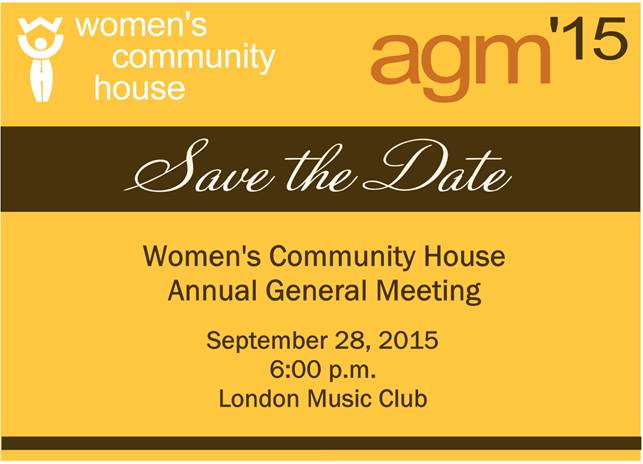2015 General Meeting save the date