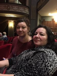 Leslie and Terry at Grand Theatre - exchange program